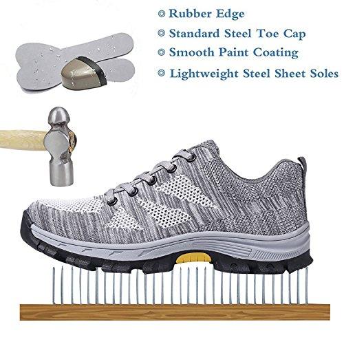 on sale 27a34 ddcbf Ulogu Arbeitsschuhe Herren Damen Sportlich Sicherheitsschuhe S3 Leicht  Atmungsaktiv Schuhe mit Stahlkappe Arbeitsschutzschuhe