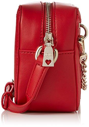 8x13x18 x Rouge Borsa femme Pu H B Calf Sacs Moschino cm T Red Rosso baguette Love vAROqxwR