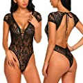 Avidlove Sexy Lingerie for Women Teddy Lace Bodysuit One Piece Halter Babydoll