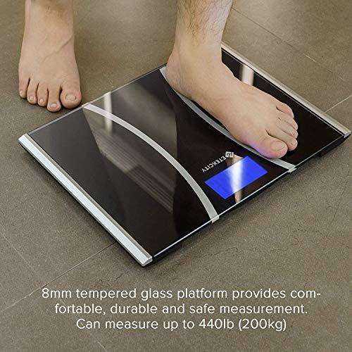 Etekcity Bathroom Scale with Technology, 440 Body Tape Elegant Black
