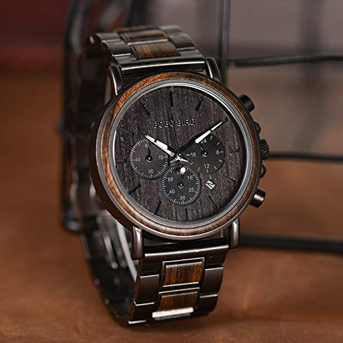 Engraved Wooden Watch for Boyfriend My Man Fiancé Husband Customized Personalized Wood Watches for Men Birthday… 7