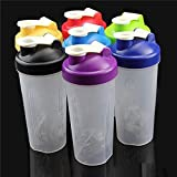 400/600ml Cute Shake Gym Protein Shaker Mixer Cup Bottle Drink Whisk Ball