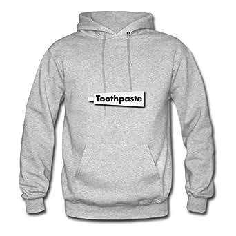X-large Women Toothpaste Tube Speacial Customizable Grey Cotton Sweatshirts