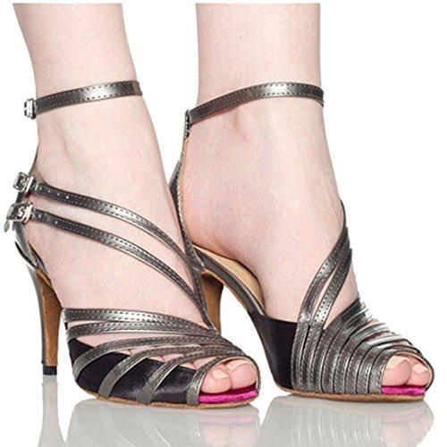 06 High Heel Shoes - Lanpet 2017 Dance Shoes Women Satin Salsa Latin Tango Ballroom Dancing Class Shoes High Heels S31