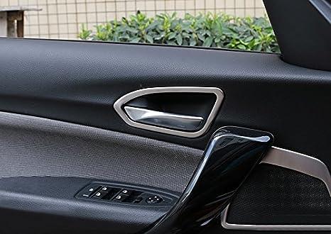 2017 coche accesorios De acero inoxidable para ventana interruptor de elevaci/ón Bot/ón Marco Borde 4 Piezas para BMW Serie 1 F20 cinco puertas 2012