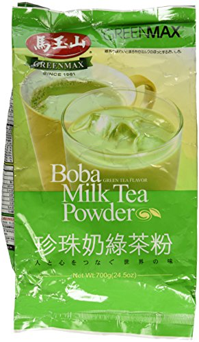 - GreenMax Boba Milk Tea Powder 24.5 Oz - Green Tea Flavor