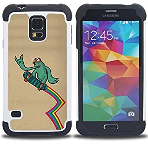 - Cool Funny Surfer Dude - - Doble capa caja de la armadura Defender FOR Samsung Galaxy S5 I9600 G9009 G9008V RetroCandy