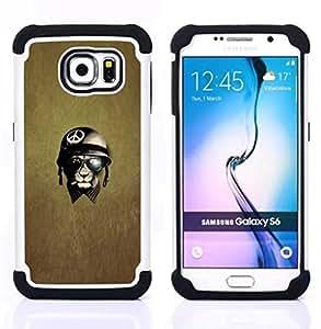 For Samsung Galaxy S6 G9200 - war peace veteran warrior Dual Layer caso de Shell HUELGA Impacto pata de cabra con im??genes gr??ficas Steam - Funny Shop -