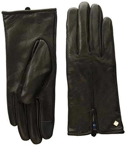 Cole Haan Women's Deerksin Single Point Glove, black, LARGE by Cole Haan