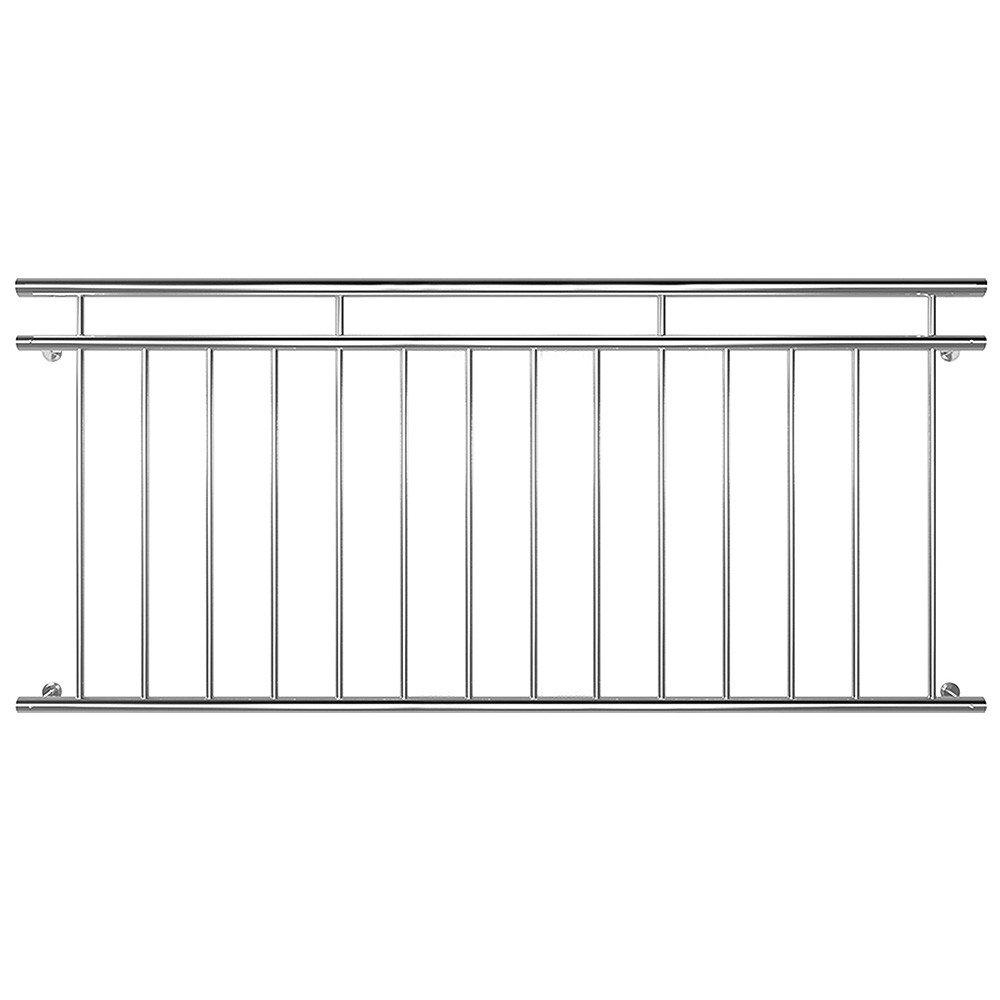 Edelstahl Französischer Balkon Geländer Balkongeländer 90 x 184 cm V2Aox