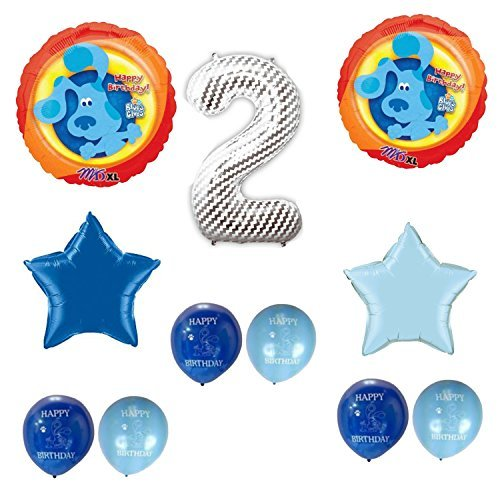 Blue's Clues Happy 2nd Birthday Party Balloons Decoration (Blues Clues Party Supplies)