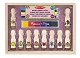 Melissa & Doug Deluxe Happy Handle Stamp Set With 10 Stamps, 5 Colored Pencils, and 6-Color Washable Ink Pad