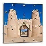 3dRose Danita Delimont - Forts - UAE, Al Ain. Al Jahili Fort, Gate entrace. - 13x13 Wall Clock (dpp_277125_2)