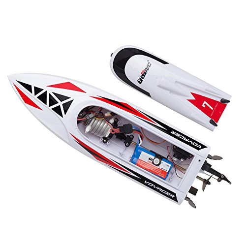 "Remote Control Boat RC Boat Kit - ""UDI007 Voyager"" RC Boats for Adults + Kids Fast Remote Control Boat Lake Toys with 2 Batteries for RC Speed Boats"