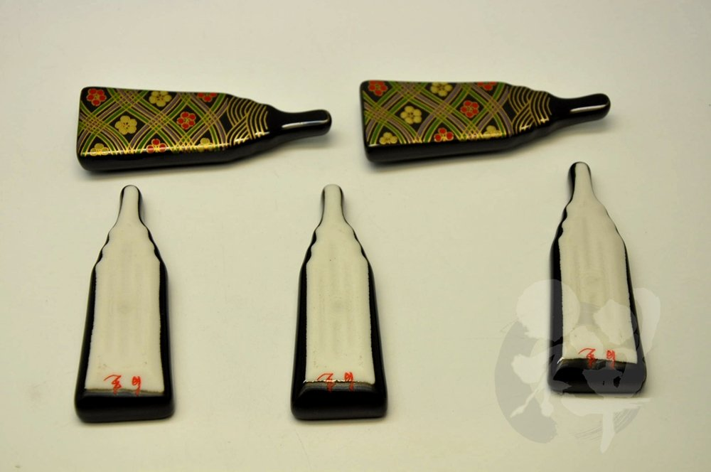 2.8 // 0.9 // 0.3inch 7166 4580437571756 Japanese Mino yaki Chopstick rest 5pc set 7.2 // 2.5 // 1cm