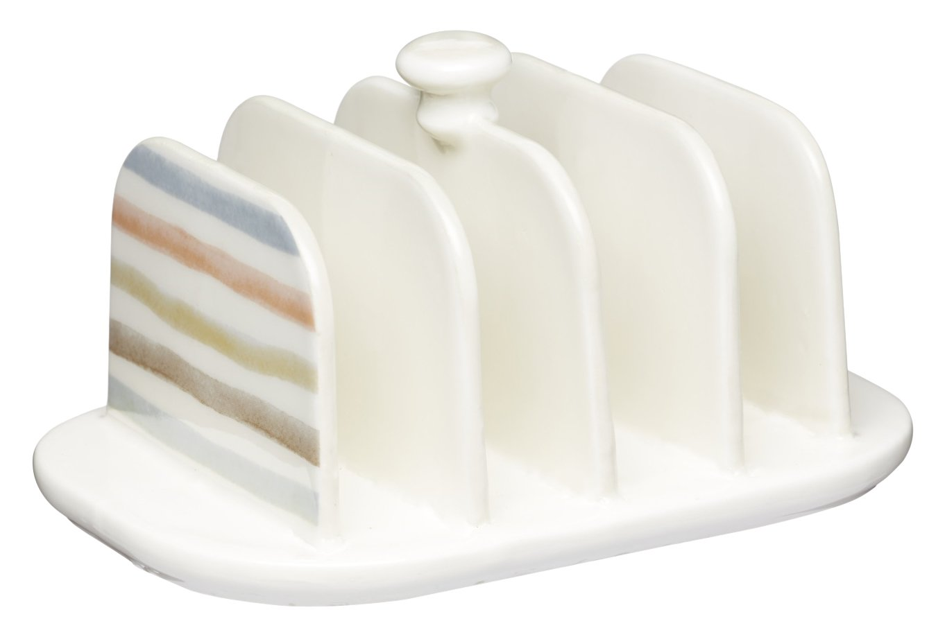 KitchenCraft Classic Collection Vintage-Style Ceramic Toast Rack - Cream KCCCTOAST