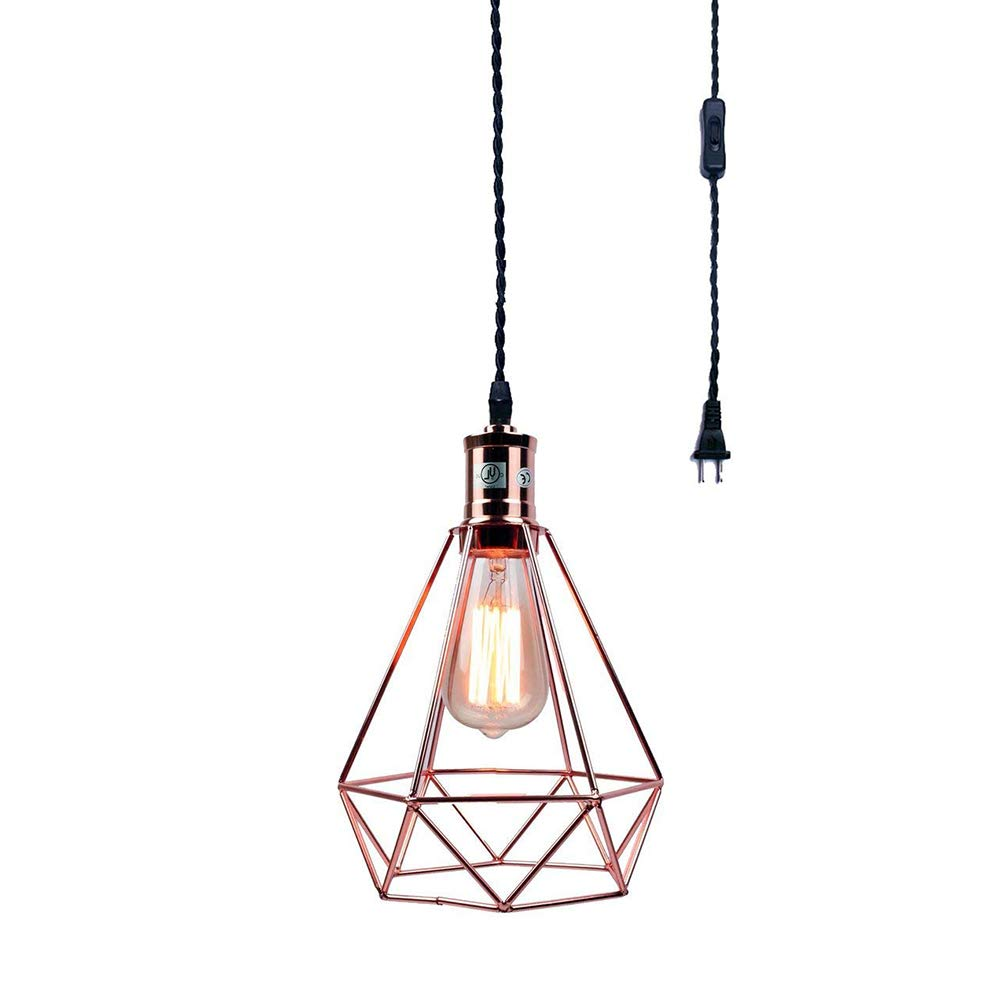 Chandeliers, Sconces & Lighting Fixtures Single Antique Wired Brass Fixture Painted Shade 58e Antiques