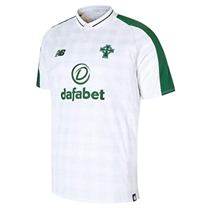 0b9bd9f049d83 Image Unavailable. Image not available for. Color: New Balance (XXL, White)  Men's Celtic Fc Away Short Sleeve Jersey