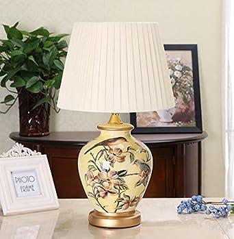 MDRW-Lampe De Table Chambre Chevet Céramiques Peints À La Main Lampe ...
