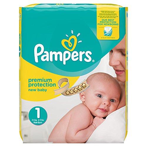 Pampers Premium Protection New Baby Windeln, Halbmonatspackung, Größe 1 (Newborn), 2-5 kg, (1 x 72 Windeln)