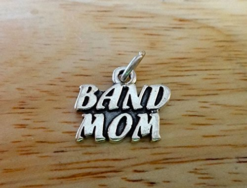(Fine Charms Sterling Silver 14x17mm Music says Band Mom Music)