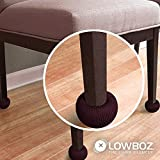 Lowboz the Chair Silencer, Floor Protection - 1 Chair Pack / Brown