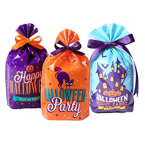 Halloween Candy Bags Kids Trick Treat Bags, Halloween Party Goody Bags Party Favors, Pack of 45