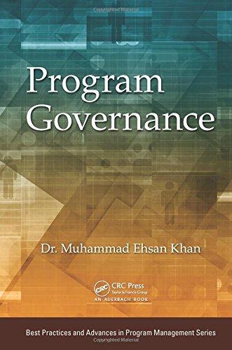 Program Governance (Best Practices and Advances in Program Management)