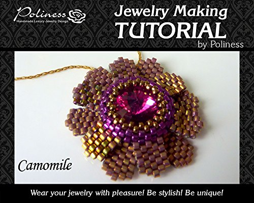 DIY Jewelry making Tutorial Camomile Flower, Practical Step by step Guide on How to make Handmade Beaded Pendant