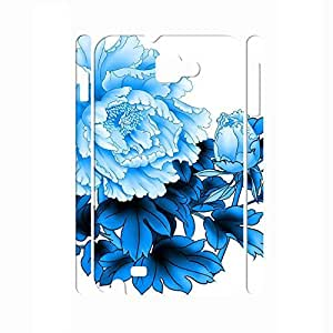 Customized Blue and White Porcelain pattern Hard Plastic Back Case Cvoer for Samsung Galaxy Note I9220 Case
