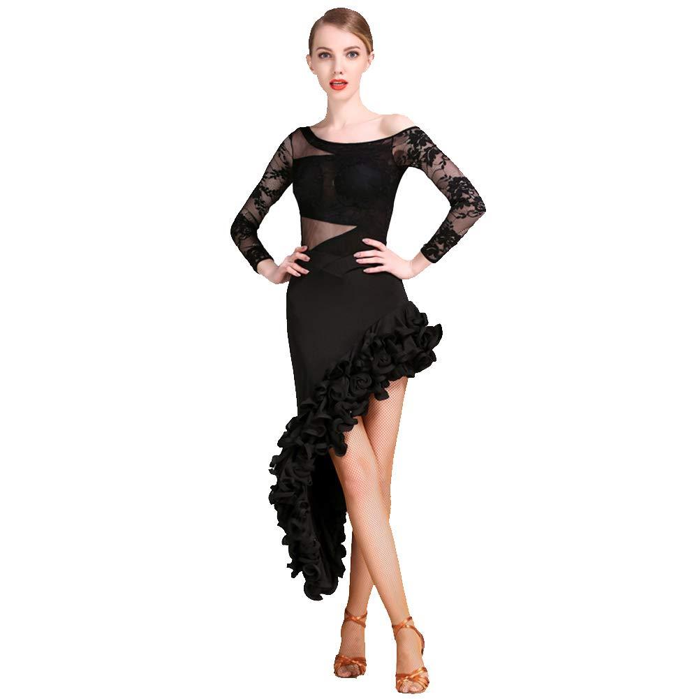 Lateinischer Tanzrock für Frauen Gewundenes Lateinisches Kleid Cha Tango Tanzkostüm XXL B07NBW1NNR Bekleidung Neues Design