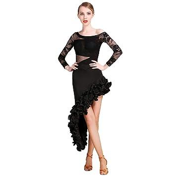 JRYYUE Profesional Falda de Danza Latino Latin Moderno Baile ...