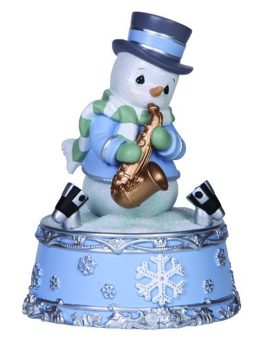 Precious Moments Company Snowman Playing Saxophone LED Musical