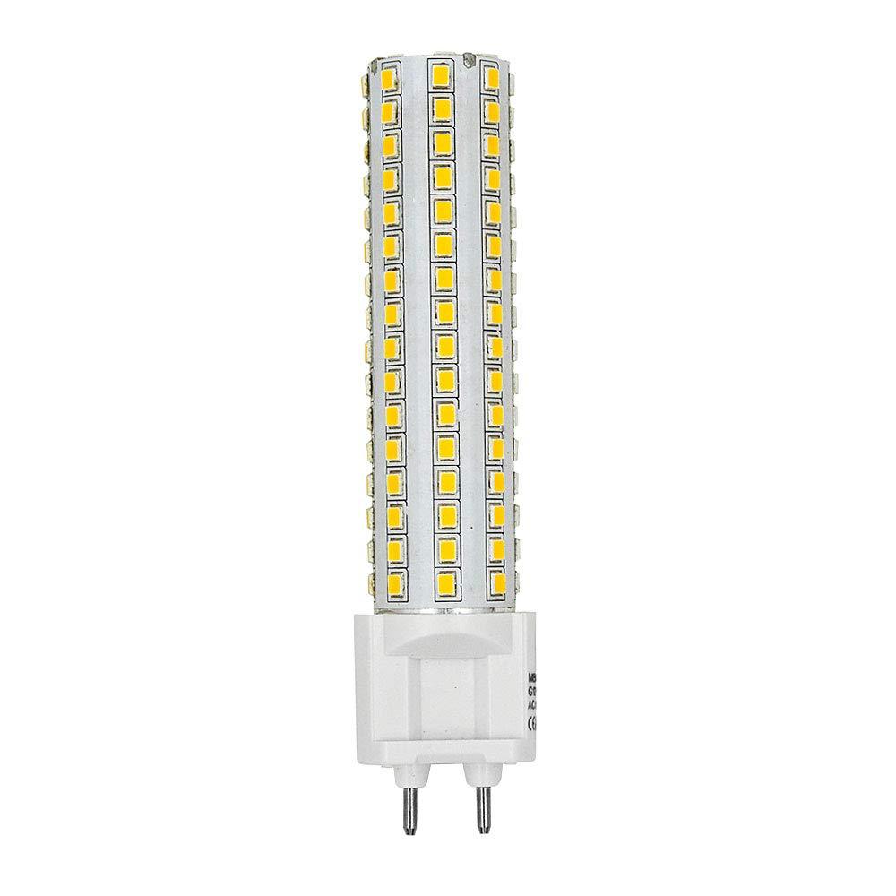 DASKOO - Juego de 2 bombillas LED (G12, 15 W CA, 85-265 V, blanco neutro, 4000 K, 144 x 2835 SMD, con revestimiento de cerámica y aluminio): Amazon.es: ...