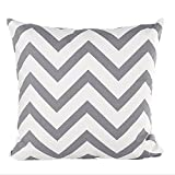 Hangood Throw Pillow Case Cushion Covers Cover Cotton Waves Grey 18 X 18 inches