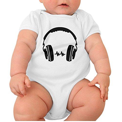 Zhangyuyu Audio Dj Headphone Short Sleeve Baby Onesies Newborn Clothes (Denon Home Audio Headphones)