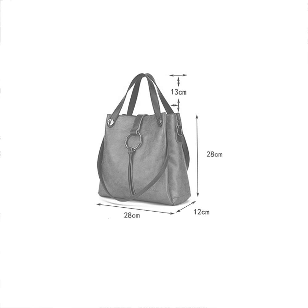 YD Handbag ///& Color : Brown Five Colors Optional Retro Fashion Handbag Shoulder Bag Messenger Bag Computer File Business Bag Large Capacity Zipper Opening and Closing with Mezzanine