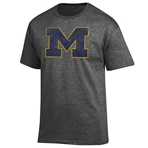 Michigan Wolverines Vintage TShirt Charcoal - L (Michigan Wolverines Clothing)