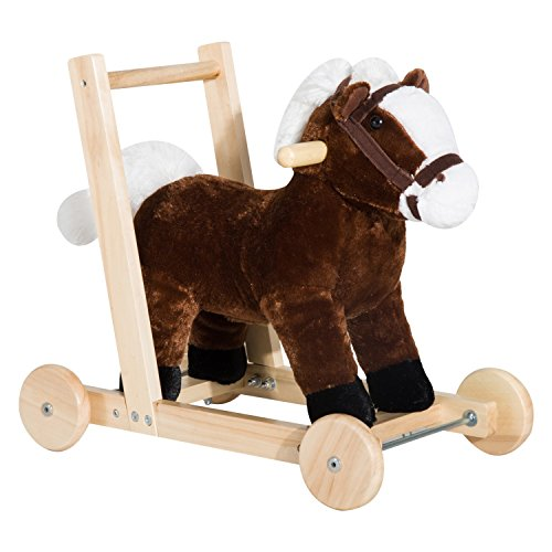 [Kid Ride On Plush Pony 3-In -1 Design, Sliding Walker, and Push Cart W/32 Nursery Songs With Ebook] (18 Month Old Lamb Costume)
