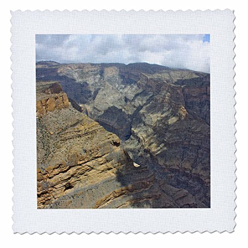 3dRose qs_164766_2 Jabal Shams, The Grand Canyon of Oman Photo by Rhonda Albom-Quilt Square, 6 by (Canyon Sham)
