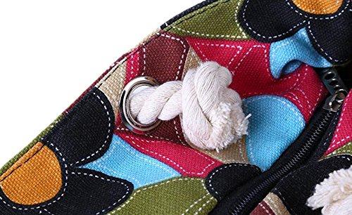 Plage Courses Épaule Impression Ethnique 03 Mode pour Sac Femme Fille Casual Toile pour Fleur de Sac de en ALL 5 Porté Style Sac PFxTtYn