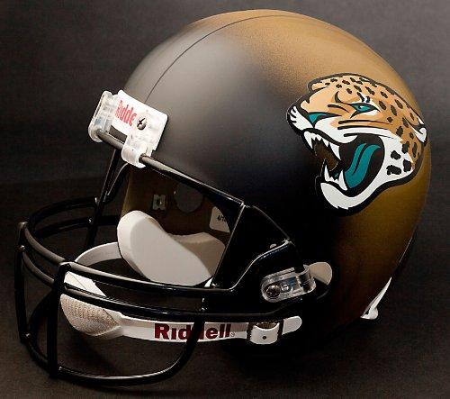 Autographed Nfl Replica Football - Riddell NFL Jacksonville Jaguars Deluxe Replica Helmet