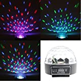Lightahead® Rotating Strobe Disco Stage LED RGB DMX512 Crystal Magic Effect Dot Light Ball (Black)