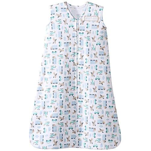 HALO SleepSack 100% Cotton Wearable Blanket, Blue Travel Time, Medium