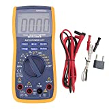 YEESON Digital Multimeter RMS 6000 Auto Raging Voltage Tester, Measures Voltage, Current, Resistance, Frequency, Temperature, Include Diodes Transistors, Test Leads & Stand
