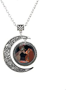 Lady & The Tramp Kiss Moon Necklace
