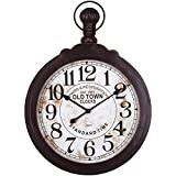 Cheap Yosemite Home Decor CLKB2A147 Black Wood Timepiece Wall Clock Multi