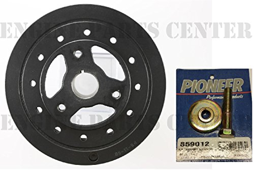 PIONEER Harmonic Balancer Damper+BOLT compatible with Chevy SB 283 305 327 350 383 8