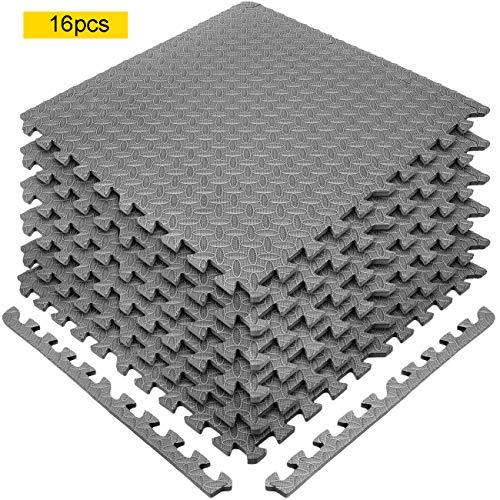 Ark Rubber and Resin Ltd Interlocking Floor EVA Mat, Heavy Duty 60 x 60 Protective Flooring Pilates Mats Suitable for…