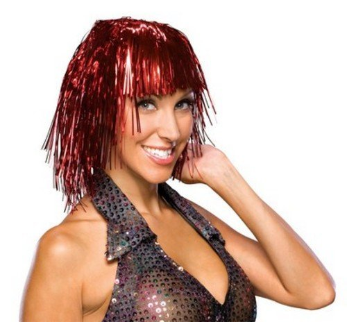 Mardi Gras Tinsel Wig (Rubie's Gold Tinsel Wig)